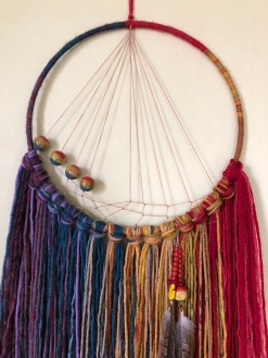 interwoven beads amplify this design