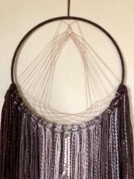 This circular weaving looks like an altar #karlimoseymakes