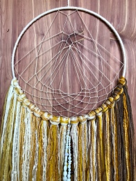 #karlimoseymakes Inspired by eggs Dreamcatcher